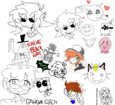 Drawpile Doodles by Rick-Elfen