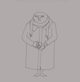 Gru as Uncle Fester by lecoeurblanc