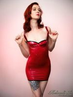 Mademoiselle Ilo - Basic latex dress - Model Madmo by Mademoiselle-Ilo