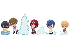 Free! chibi fan mail by Usaminn