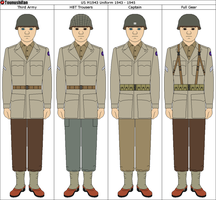 US WWII M1943 Uniform by Grand-Lobster-King
