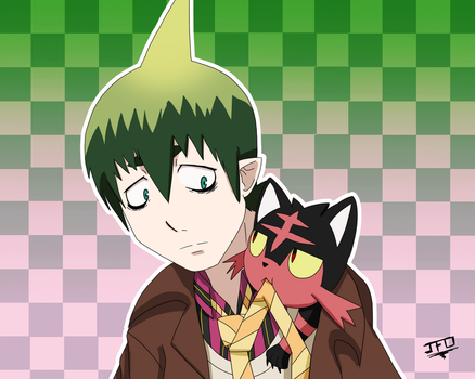 BlueExorcist-PKMN - The coat squatter by LordBlackTiger666