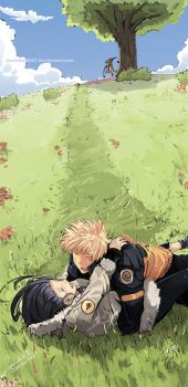 Naruto and Hinata Romance by faustsketcher