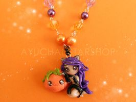 Violet Pumpkin Cat by AyumiDesign