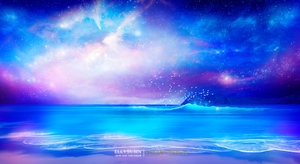 Starry beach by Ellysiumn
