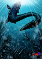Mosasaur to the attack by KaiMelisaNicromanteX