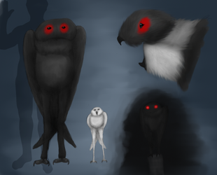 Mothman the owl by Dragonthunders