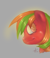 Pony portrait by AkaiNeru