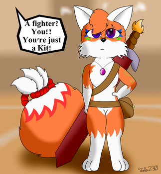 Critorin the Fusion Kitsune by Tails230