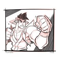 Ryu Sketch! by frogbillgo
