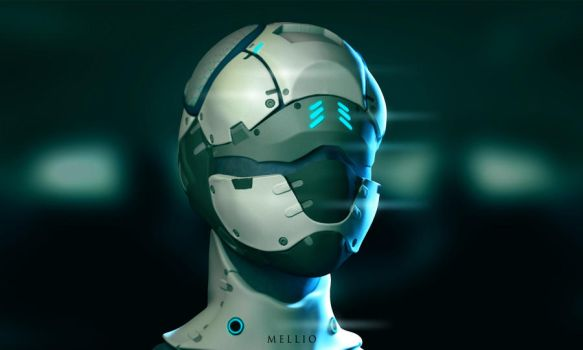 Female scifi medic character bust by koukisan