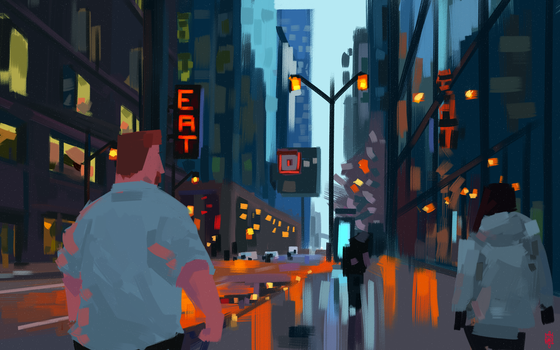 Downtown by GusDraws