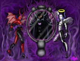 Xing and Xang with Drakath by Xzeromus