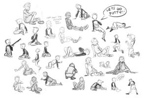 Kid life drawing by Britt315