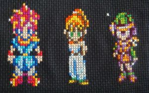 Chrono Trigger Cross Stitch by pixel8bit