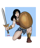 Wonder woman by HerlockCooper