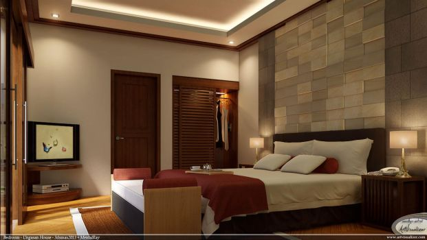 Bedroom for Ungasan House by teknikarsitek