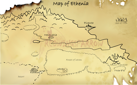 Map of Ethenia with new watermark by Redwingsparrow