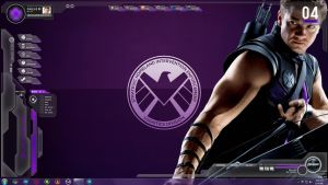 SHIELD Avengers Rainmeter - Hawkeye (Agent Barton) by Jackknife35