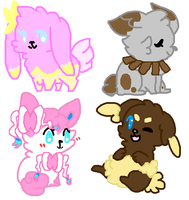 Pokemon bunny adopts 1 Auction by rockythebunny13