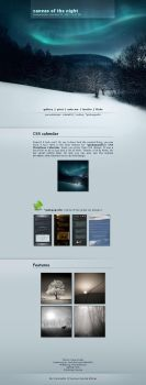canvas of the night - CSS by detail24
