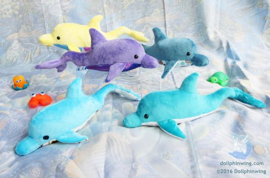 Dolphin Plushies (pattern available) by dollphinwing