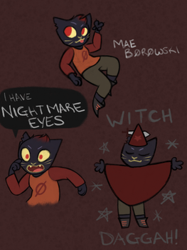 Night in the Woods - Mae Sketchdump by SolrSurfr3