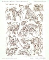cave critter thumbnail sketches by MIKECORRIERO