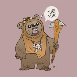 An Ewok by CalamityJon