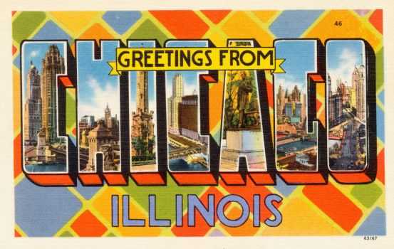 Large Letter Postcard - Chicago IL by Yesterdays-Paper
