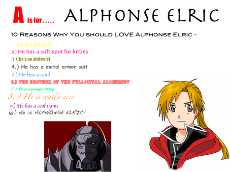 A is for . . . . . Alphonse Elric by mynameisforbidden