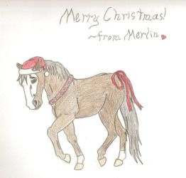 Have A Merry Merlin Christmas by MyHorseMyHeart