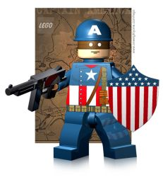 Lego WW II Captain America by mikenap22