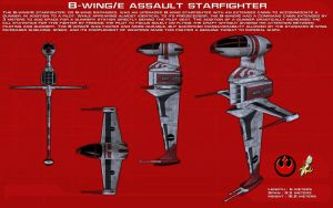 B-Wing E Assault Starfighter ortho [New] by unusualsuspex
