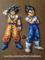 Goku and Vegeta by HaleysRedComet