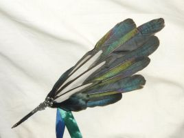 Magic of the Magpie - handcrafted Featherquill by Ganjamira
