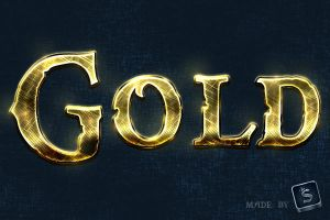 Free Gold Text Effect - Photoshop Tutorial by survivorcz
