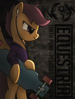 Scootaloo with a longboard by Dyani-Yahto
