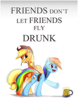 comm: Friends don't let friends fly drunk! by derpiihooves