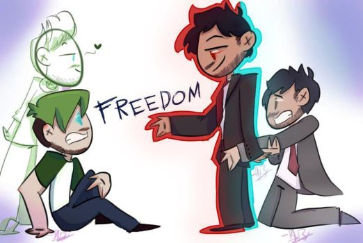 Darkiplier Haves Your Freedom!~ by power5pro