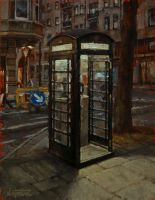 Telephone Box At Night by NicolasMartin