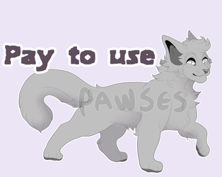 Pay To Use Cat Lineart by Pawses