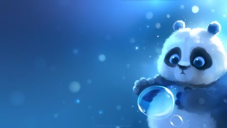 panda wallpaper by Apofiss