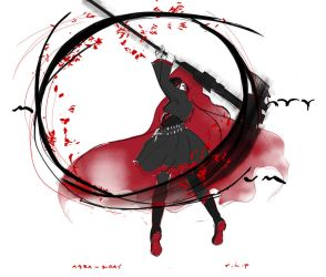 RIP Monty Oum by LadyMignon
