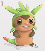 Pokemon - Chespin (+Video Process) by alpin-j