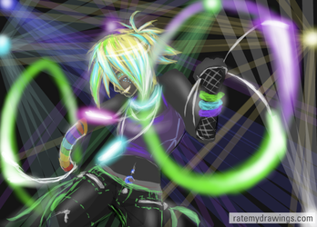 PRETTY RAVE GIRL by chastened