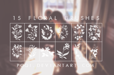 {15 Floral Brushes} by Poqi