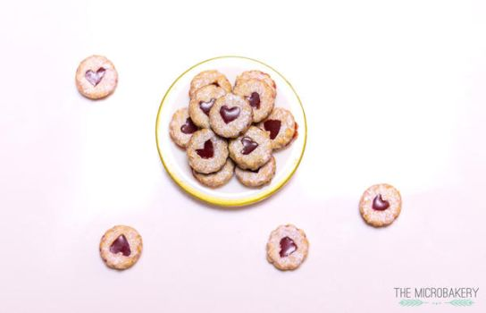Linzer Jam Cookies 1 by TheMicroBakery