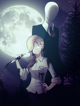 Commission: Slenderman and hellkitty112 by 1Day4Dreams