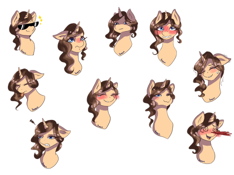 {Commission} Emotes for Branwen by Akemiarts1